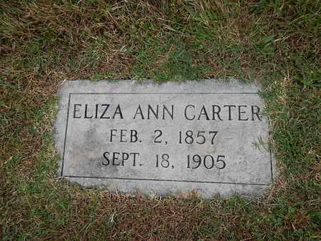 CARTER, ELIZA ANN - Knox County, Tennessee | ELIZA ANN CARTER - Tennessee Gravestone Photos