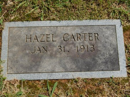 CARTER, HAZEL - Knox County, Tennessee | HAZEL CARTER - Tennessee Gravestone Photos