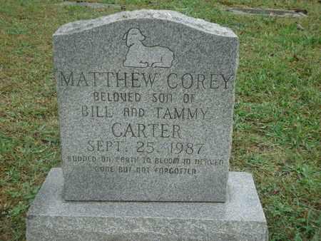 CARTER, MATTHEW COREY - Knox County, Tennessee | MATTHEW COREY CARTER - Tennessee Gravestone Photos