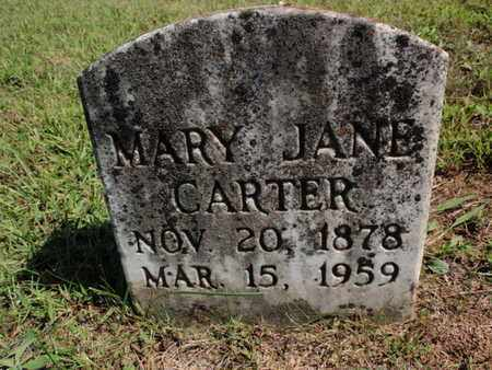 CARTER, MARY JANE - Knox County, Tennessee | MARY JANE CARTER - Tennessee Gravestone Photos