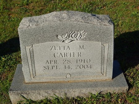 CARTER, ZETTA M - Knox County, Tennessee | ZETTA M CARTER - Tennessee Gravestone Photos
