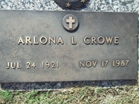 CROWE, ARLONA L. - Knox County, Tennessee | ARLONA L. CROWE - Tennessee Gravestone Photos