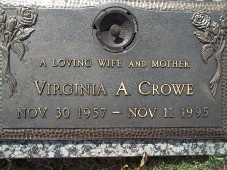 CROWE, VIRGINIA A. - Knox County, Tennessee | VIRGINIA A. CROWE - Tennessee Gravestone Photos