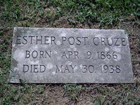 CRUZE, ESTHER - Knox County, Tennessee | ESTHER CRUZE - Tennessee Gravestone Photos