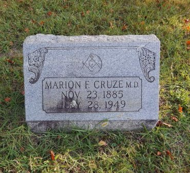CRUZE, MARION F (DOCTOR) - Knox County, Tennessee | MARION F (DOCTOR) CRUZE - Tennessee Gravestone Photos