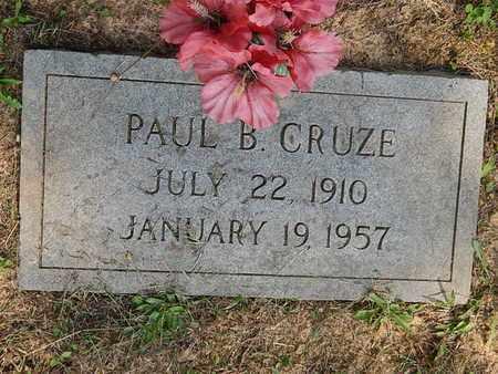 CRUZE, PAUL B - Knox County, Tennessee | PAUL B CRUZE - Tennessee Gravestone Photos