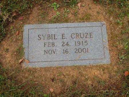 CRUZE, SYBIL E - Knox County, Tennessee   SYBIL E CRUZE - Tennessee Gravestone Photos