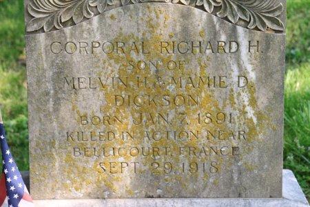 DICKSON (VETERAN WWI), RICHARD H. (CLOSE UP) - Knox County, Tennessee | RICHARD H. (CLOSE UP) DICKSON (VETERAN WWI) - Tennessee Gravestone Photos