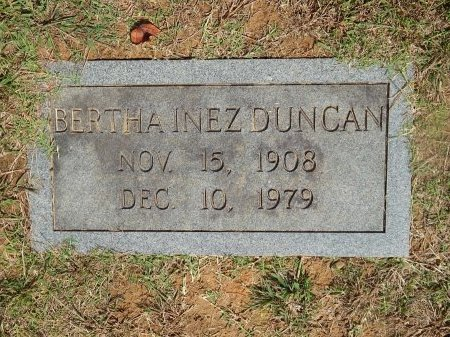 DUNCAN, BERTHA INEZ - Knox County, Tennessee | BERTHA INEZ DUNCAN - Tennessee Gravestone Photos
