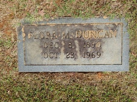 DUNCAN, FLORA M - Knox County, Tennessee | FLORA M DUNCAN - Tennessee Gravestone Photos