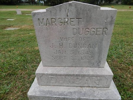 DUNCAN, MARGRET - Knox County, Tennessee | MARGRET DUNCAN - Tennessee Gravestone Photos