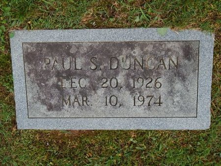 DUNCAN, PAUL S - Knox County, Tennessee | PAUL S DUNCAN - Tennessee Gravestone Photos