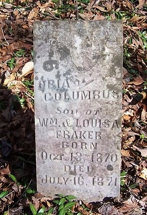 FRAKER, OBIA COLUMBUS - Knox County, Tennessee   OBIA COLUMBUS FRAKER - Tennessee Gravestone Photos