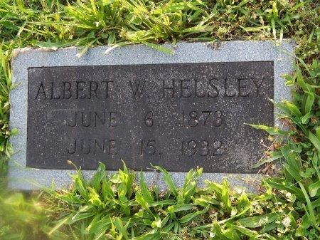 HELSLEY, ALBERT W - Knox County, Tennessee | ALBERT W HELSLEY - Tennessee Gravestone Photos