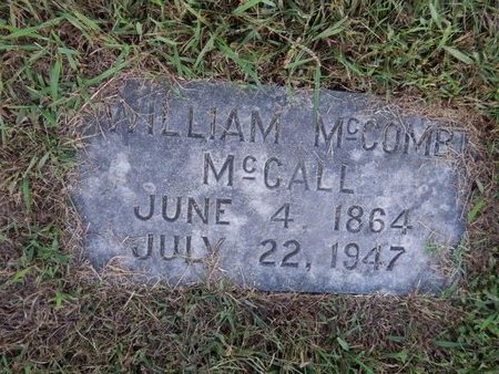 MCCALL, WILLIAM MCCOMB - Knox County, Tennessee | WILLIAM MCCOMB MCCALL - Tennessee Gravestone Photos