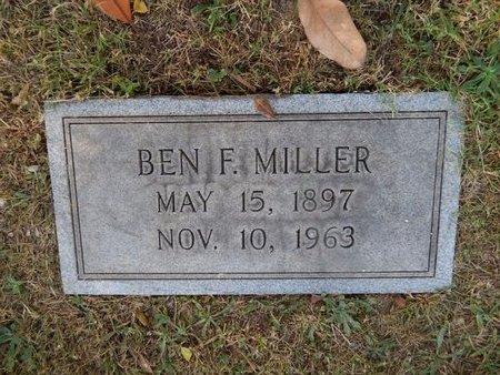 MILLER, BEN F - Knox County, Tennessee   BEN F MILLER - Tennessee Gravestone Photos