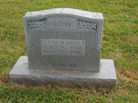 MILLER, CARRIE W - Knox County, Tennessee | CARRIE W MILLER - Tennessee Gravestone Photos