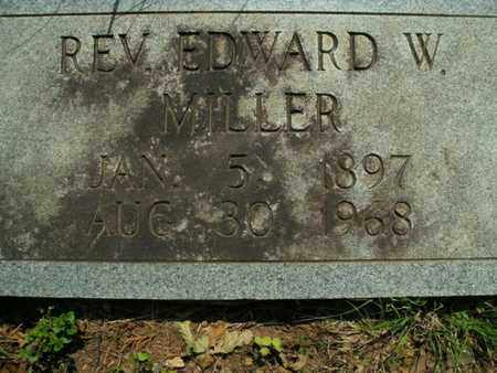 MILLER, EDWARD W (REVEREND) - Knox County, Tennessee | EDWARD W (REVEREND) MILLER - Tennessee Gravestone Photos