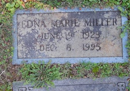 MILLER, EDNA MARIE - Knox County, Tennessee | EDNA MARIE MILLER - Tennessee Gravestone Photos