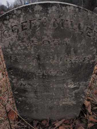 MILLER, GREEN - Knox County, Tennessee | GREEN MILLER - Tennessee Gravestone Photos