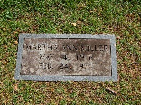 MILLER, MARTHA ANN - Knox County, Tennessee   MARTHA ANN MILLER - Tennessee Gravestone Photos