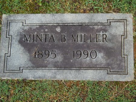 MILLER, MINTA B - Knox County, Tennessee | MINTA B MILLER - Tennessee Gravestone Photos