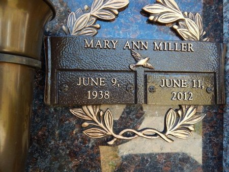 MILLER, MARY ANN - Knox County, Tennessee | MARY ANN MILLER - Tennessee Gravestone Photos