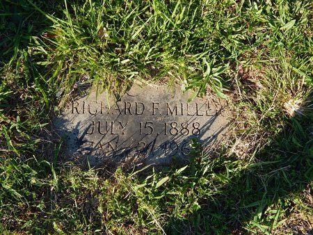 MILLER, RICHARD F - Knox County, Tennessee | RICHARD F MILLER - Tennessee Gravestone Photos