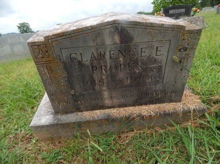 PROPES, CLARENCE E - Knox County, Tennessee | CLARENCE E PROPES - Tennessee Gravestone Photos
