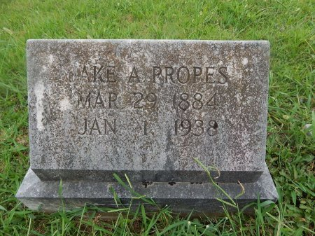 PROPES, JAKE A - Knox County, Tennessee | JAKE A PROPES - Tennessee Gravestone Photos