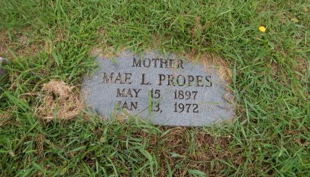 PROPES, MAE L - Knox County, Tennessee | MAE L PROPES - Tennessee Gravestone Photos