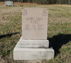 RABY, MARY ALICE - Knox County, Tennessee | MARY ALICE RABY - Tennessee Gravestone Photos