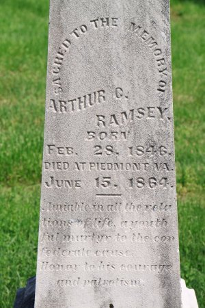 RAMSEY, ARTHUR C. (CLOSE UP) - Knox County, Tennessee | ARTHUR C. (CLOSE UP) RAMSEY - Tennessee Gravestone Photos
