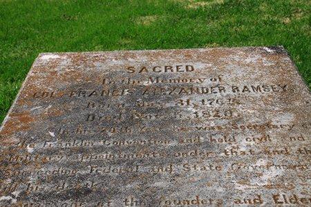 RAMSEY, FRANCIS ALEXANDER (CLOSE UP) - Knox County, Tennessee | FRANCIS ALEXANDER (CLOSE UP) RAMSEY - Tennessee Gravestone Photos