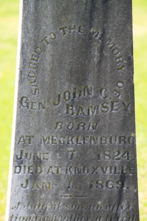 RAMSEY, JOHN C. (CLOSE UP) - Knox County, Tennessee | JOHN C. (CLOSE UP) RAMSEY - Tennessee Gravestone Photos