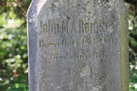 RAMSEY, JOHN M. A. (CLOSE UP) - Knox County, Tennessee | JOHN M. A. (CLOSE UP) RAMSEY - Tennessee Gravestone Photos