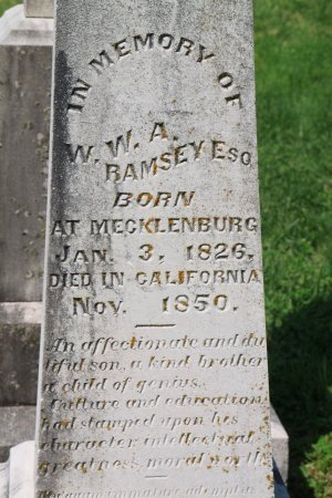 RAMSEY, W. W. A. (CLOSE UP) - Knox County, Tennessee | W. W. A. (CLOSE UP) RAMSEY - Tennessee Gravestone Photos