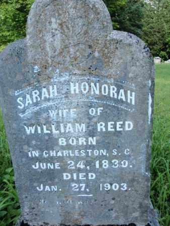 REED, SARAH HONORAH - Knox County, Tennessee | SARAH HONORAH REED - Tennessee Gravestone Photos