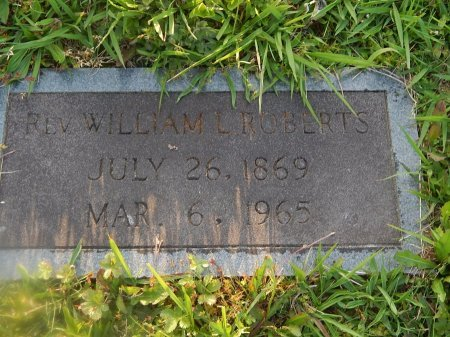ROBERTS, WILLIAM L (REVEREND) - Knox County, Tennessee | WILLIAM L (REVEREND) ROBERTS - Tennessee Gravestone Photos