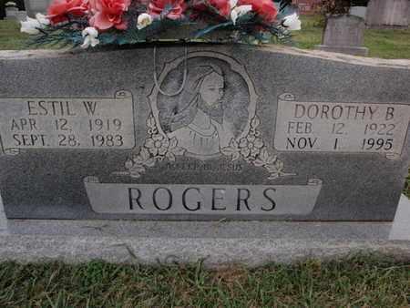 ROGERS, ESTIL W - Knox County, Tennessee | ESTIL W ROGERS - Tennessee Gravestone Photos