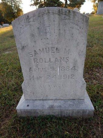 ROLLANS, SAMUEL M - Knox County, Tennessee | SAMUEL M ROLLANS - Tennessee Gravestone Photos