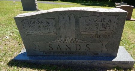 SANDS, LORENA M - Knox County, Tennessee   LORENA M SANDS - Tennessee Gravestone Photos