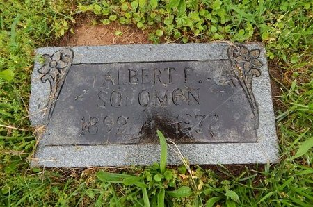 SOLOMON, ALBERT F - Knox County, Tennessee | ALBERT F SOLOMON - Tennessee Gravestone Photos