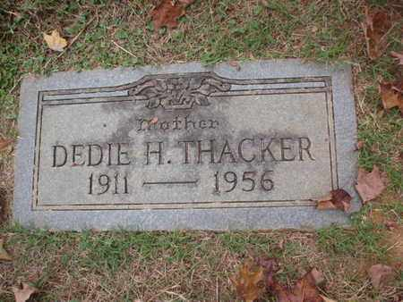 THACKER, DEDIE H - Knox County, Tennessee | DEDIE H THACKER - Tennessee Gravestone Photos