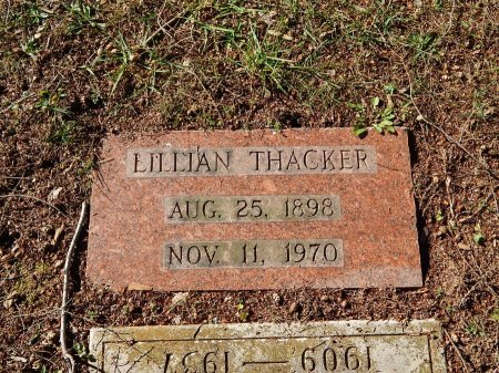 THACKER, LILLIAN - Knox County, Tennessee | LILLIAN THACKER - Tennessee Gravestone Photos