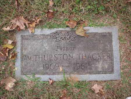 THACKER, WILLIAM THURSTON - Knox County, Tennessee | WILLIAM THURSTON THACKER - Tennessee Gravestone Photos