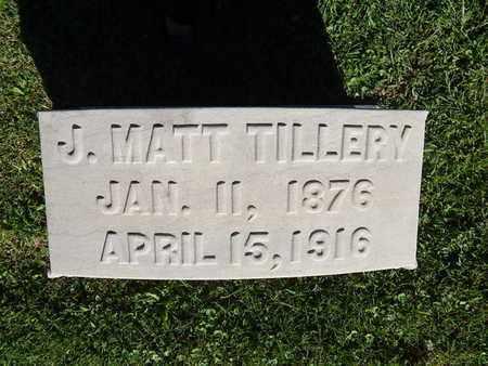 TILLERY, J MATT - Knox County, Tennessee   J MATT TILLERY - Tennessee Gravestone Photos