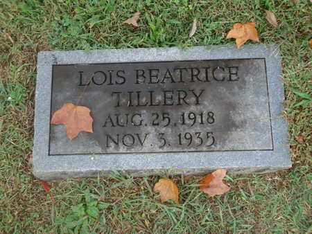TILLERY, LOIS BEATRICE - Knox County, Tennessee | LOIS BEATRICE TILLERY - Tennessee Gravestone Photos