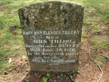 TILLERY, MARY ANN - Knox County, Tennessee | MARY ANN TILLERY - Tennessee Gravestone Photos
