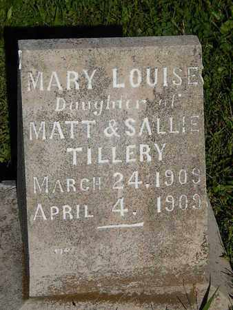 TILLERY, MARY LOUISE - Knox County, Tennessee | MARY LOUISE TILLERY - Tennessee Gravestone Photos